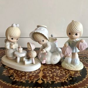 Precious Moments Lot of 3 Figurines pre loved